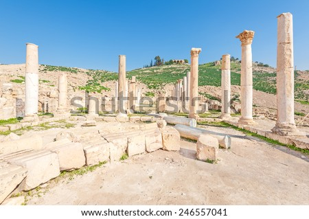 Tabaqat Fahl Northern Jordan Located About Stock Photo - Where is jordan located