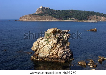 Tabarka, the Genoese Fort built in the 16th century - stock photo
