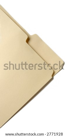 tabbed folder corner - stock photo