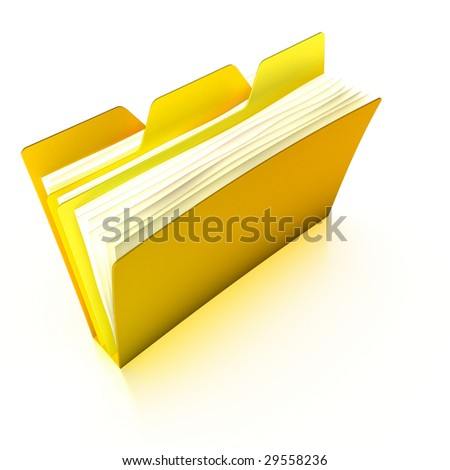 Tabbed folder (with a clipping path)