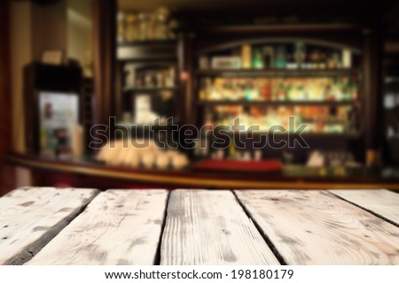 table and bar  - stock photo