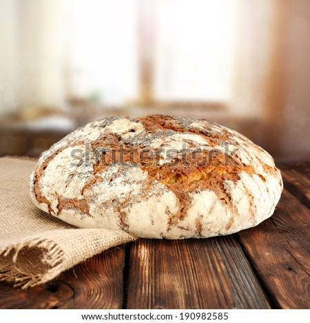 table and bread  - stock photo