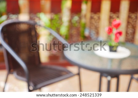 Table and Chair - Blurred Background