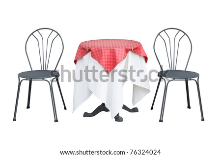 Table and chairs - stock photo