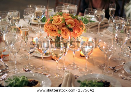 table appointments - wedding dinner