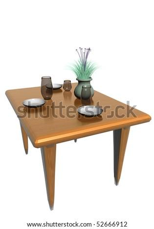 Table arrangement - stock photo