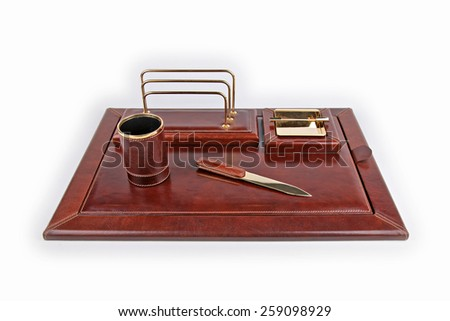 table business kit solated on white background