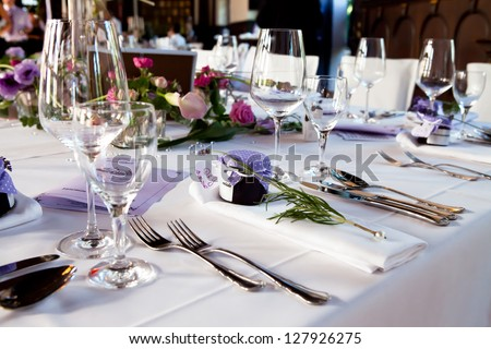 table center piece. wedding table decoration at hey day marriage. the festival and table decoration was build by a catering service orderd by the palace personal. - stock photo