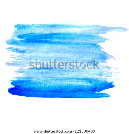 table chart stroke blue paint brush watercolor isolated - stock photo
