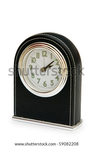 Table clock isolated on the white background