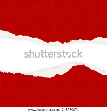 Table cloth background, roses - illustration background