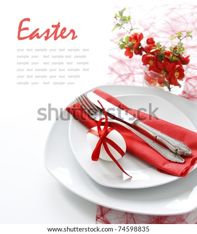 Table decoration in red