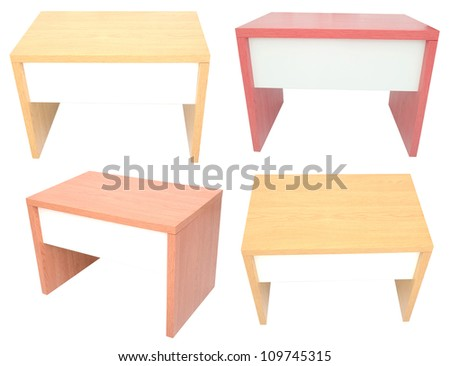 Table desks isolated white