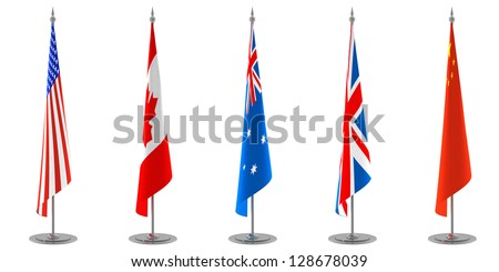 Table Flags Collection - stock photo
