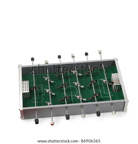 table football game is isolated - stock photo