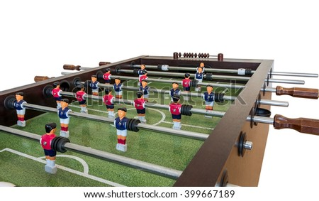 Table football game, Soccer table . - stock photo