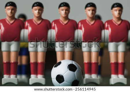 table football players red form - stock photo