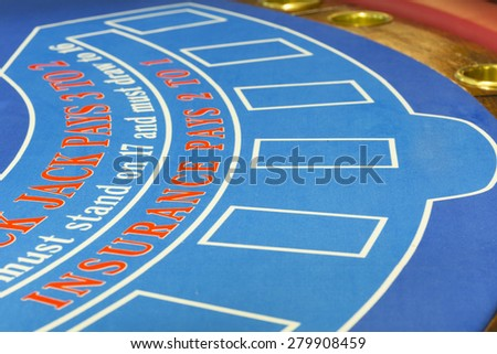 Table for blackjack - stock photo