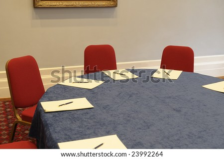 Table for negotiation.