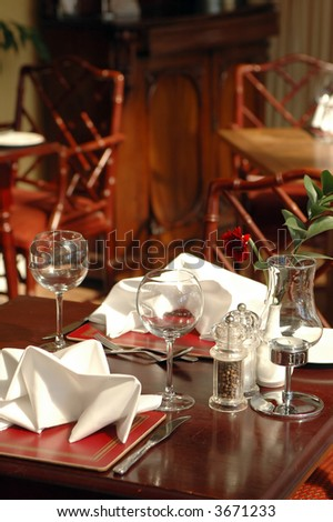 Table Two Restaurant Stock Photo Royalty Free Shutterstock - Table for two restaurant