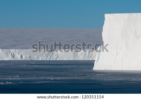 Table iceberg edge in Antarctica