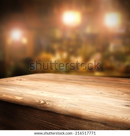 table in room  - stock photo