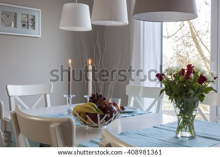 table in the dining room