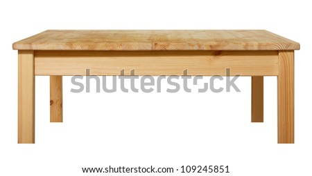 table isolated - stock photo
