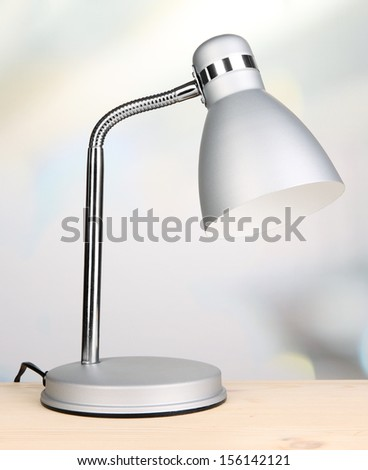 Table lamp in room - stock photo