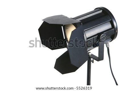 Table lamp in the shape of a motion picture barn door lighting fixture - stock photo