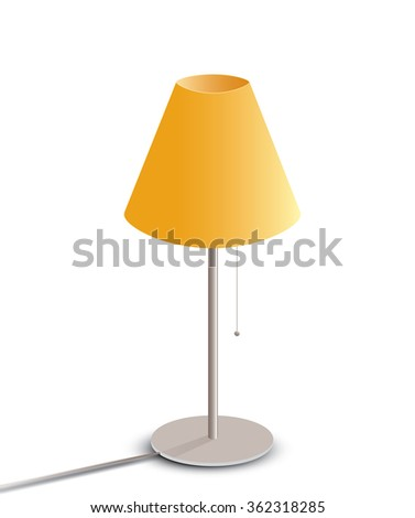 Table lamp isolated on white background - stock photo