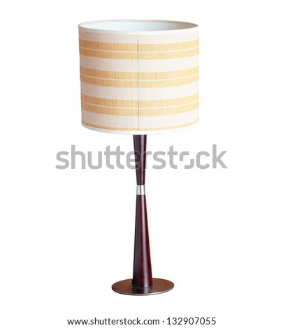 table lamp isolated on white background with clipping path - stock photo
