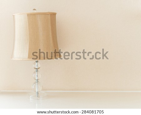 Table lamp on the table - stock photo