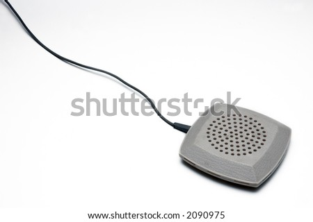 table mic on white background on corner - stock photo
