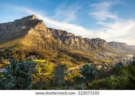 Table Mountain and the Twelve Apostles at dusk from Lion's Head - landscape exterior