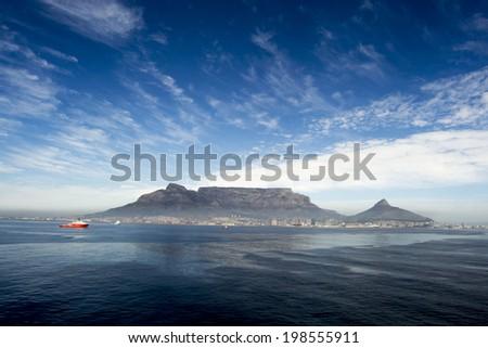 Table mountain, Capetown - stock photo