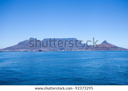 table mountain in Cape Town, South Africa - stock photo