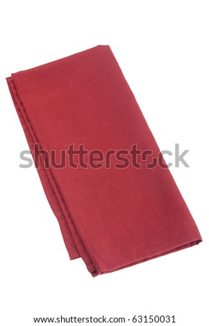 Table napkins of cloth on a white background. - stock photo