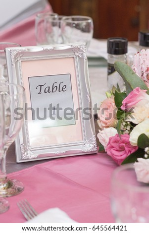 Table Number Silver Ornate Photo Frame Stock Photo (Royalty Free ...