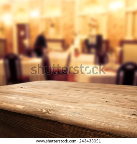table of retro chic and old big table  - stock photo