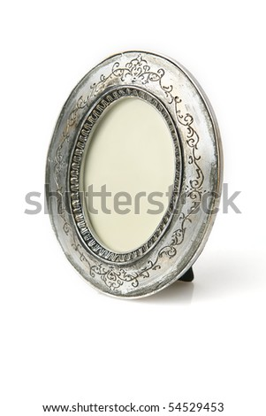 Table photo frame. - stock photo