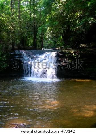 Table Rock Mountain Waterfall - stock photo