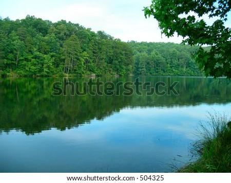 Table Rock Upper Lake - stock photo