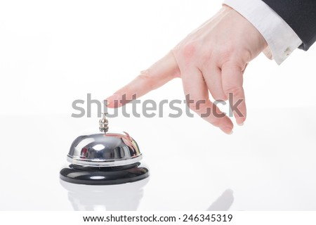 table service bell - stock photo