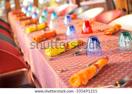 table set up - stock photo