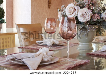 table setting - stock photo