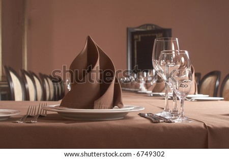 Table setting. Banquet - stock photo