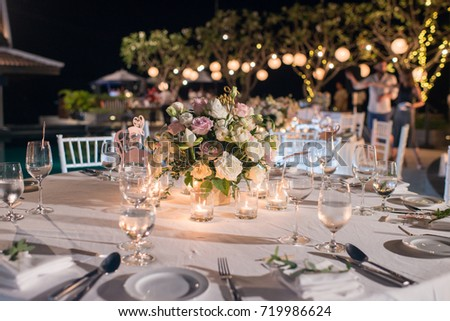 Table Setting Event Party Wedding Reception Stock Photo (Royalty Free) 719986624 - Shutterstock & Table Setting Event Party Wedding Reception Stock Photo (Royalty ...