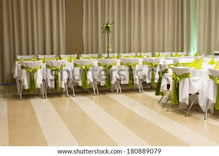 table setting for fine dining - stock photo