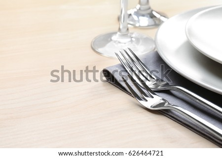 Table Setting Background festive table setting valentine day stock photo 247217623